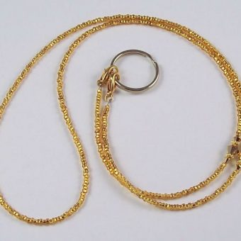 Awareness Beaded Lanyard Gold