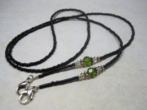 Beaded Lanyard Green Black