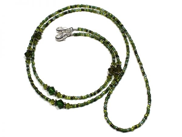 Beaded Lanyard Green Clover