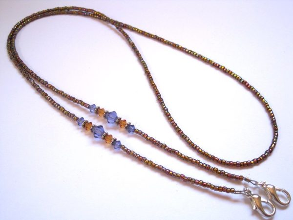 Tanzanite and Topaz Beaded Lanyard