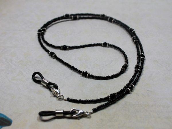 Black Crystal Pearl Lanyard