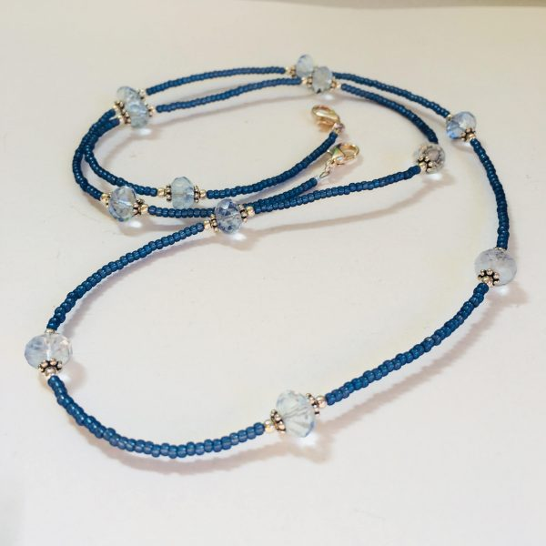 Blueberry Quartz Beaded Lanyard