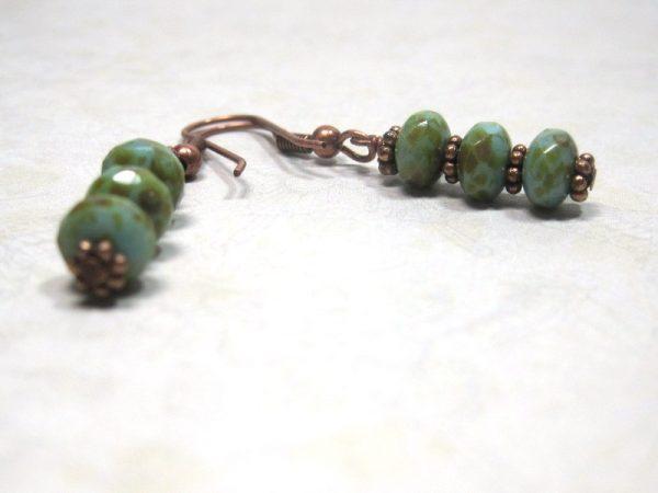 Blue Sand Copper Dangle Earrings
