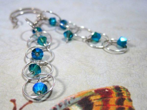 Blue Zircon Crystal Earring
