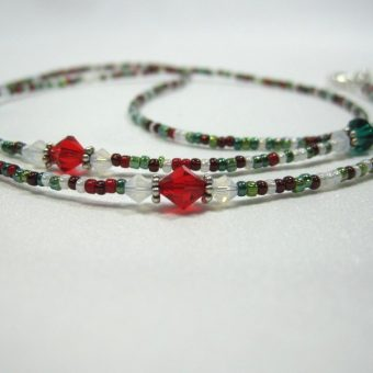 Christmas Beaded Lanyard