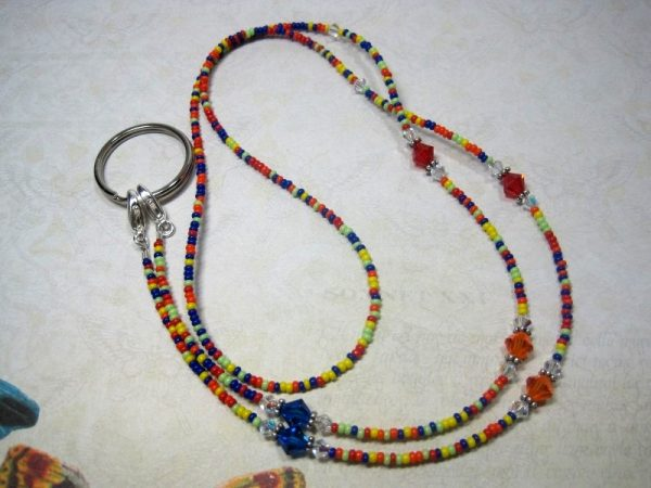 Beaded Lanyard with Bright Colors