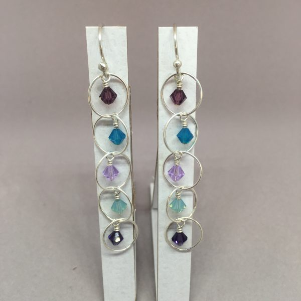 Monet Crystal Dangle Earrings