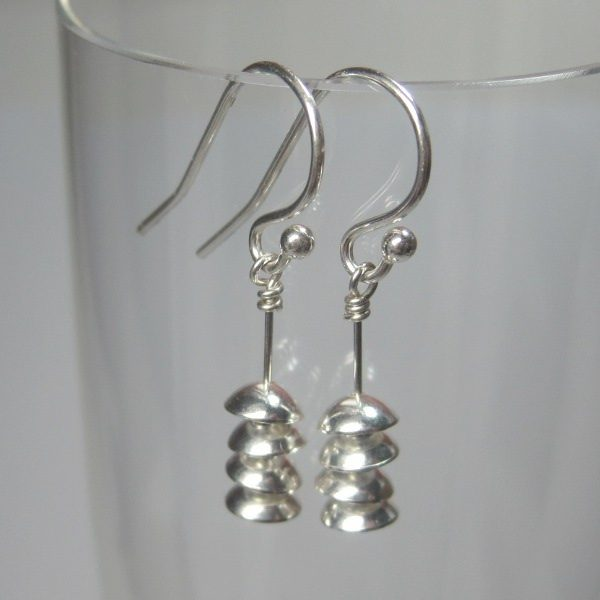 Pagoda Sterling Dangle Earring