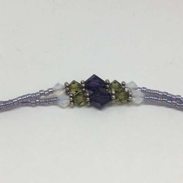 Purple and green simple bracelet