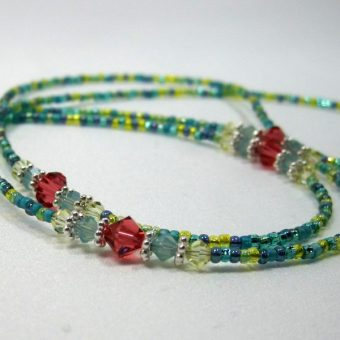 Seaside Beaded Lanyard