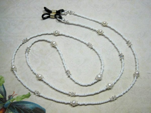 White Pearl Beaded Lanyard