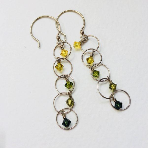 Earrings Green Ombre