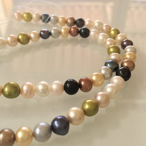 Baroque Freshwater Pearls 6mm Multicolor
