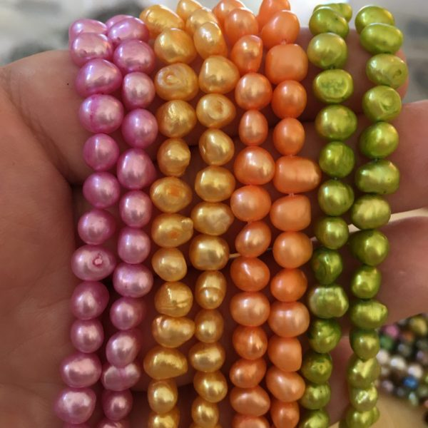 Baroque Freshwater Pearls Neon Color